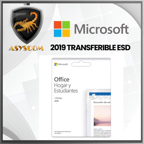 🦂 Licencia Microsoft Office Home and Student 2019 TRANSFERIBLE ESD