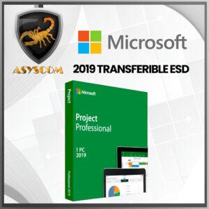 🦂 Licencia Microsoft Project Professional 2019 TRANSFERIBLE ESD