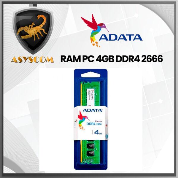 🦂 Memoria RAM ⚡PARA PC ADATA 4GB DDR4 2666