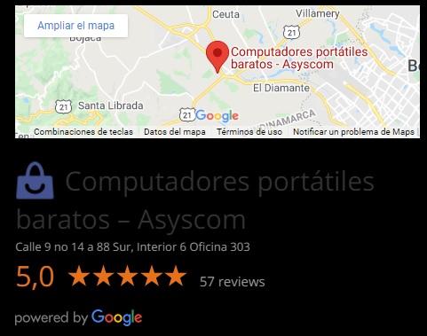 mapa direccion asyscomputadores