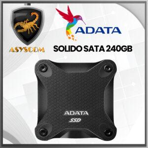 🦂 DISCO DURO ESTADO SOLIDO EXTERNO ⚡ 240 GB – ADATA – ASD 600U