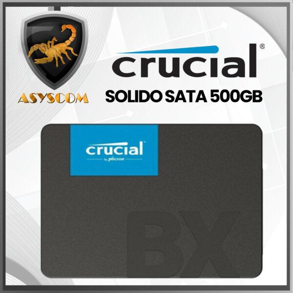 🦂 DISCO DURO ESTADO SOLIDO ⚡ SATA – 500GB – CRUCIAL