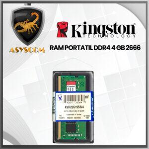 🦂 Memoria RAM⚡ PARA PORTATIL DDR4 4GB KINGSTON 2666