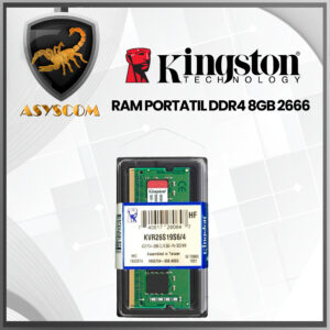 🦂 Memoria RAM⚡ PARA PORTATIL DDR4 8GB KINGSTON 2666