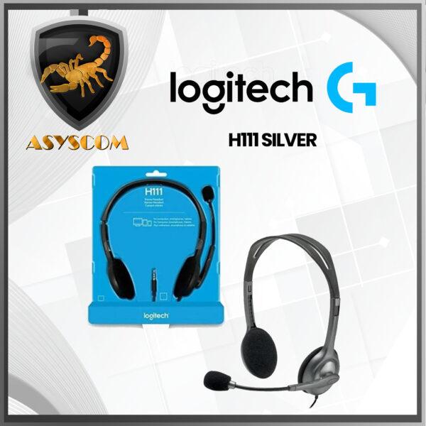 Accesorios -  - DIADEMA LOGITECH H111 SILVER 600x600