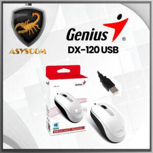 🦂 MOUSE ALAMBRICO⚡ GENIUS DX-120 USB, BLANCO