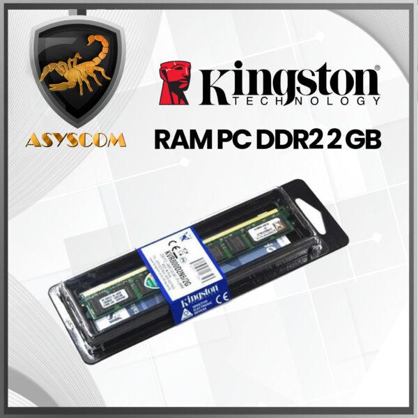 🦂 Memoria RAM ⚡PARA PC DDR2 2 GB PC KINGSTON 800