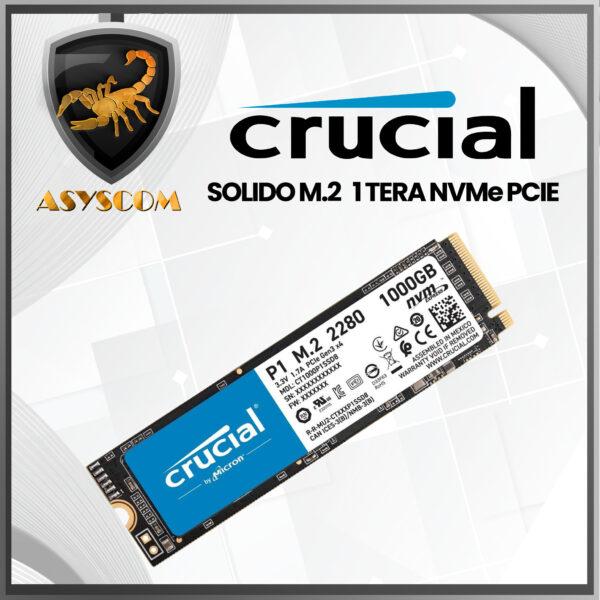 🦂 DISCO DURO ESTADO SOLIDO ⚡ M2 NVMe PCIE – 1000GB – CRUCIAL