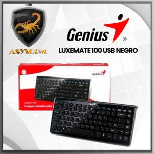🦂 TECLADO ⚡ LUXEMATE 100 USB NEGRO