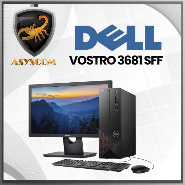 🦂 PC DELL VOSTRO 3681 SFF ⚡ INTEL CORE I3 10100 – 1 TERA – DDR4 4GB – MONITOR 18.5″